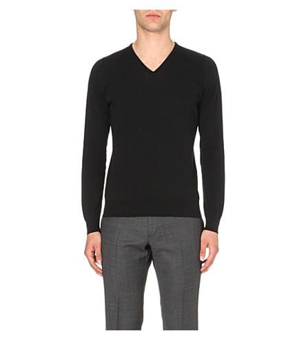 JOHN SMEDLEY Bampton knitted jumper (Black