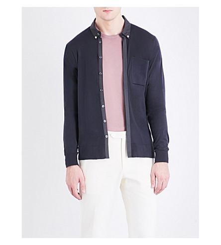 JOHN SMEDLEY Banwell cotton shirt (Flannel+grey