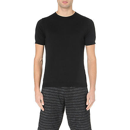 JOHN SMEDLEY Belden Sea Island cotton t-shirt (Black