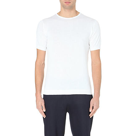 JOHN SMEDLEY Belden Sea Island cotton t-shirt (White