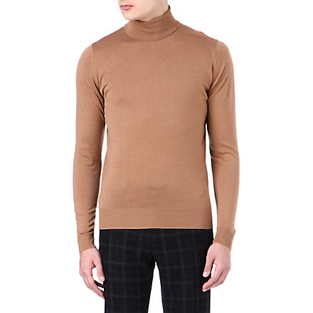 JOHN SMEDLEY Belvoir roll-neck jumper (Cr?me