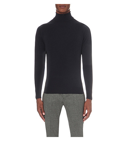 JOHN SMEDLEY Belvoir merino wool sweater (Midnight