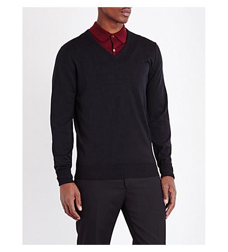 JOHN SMEDLEY Bobby merino wool jumper (Black