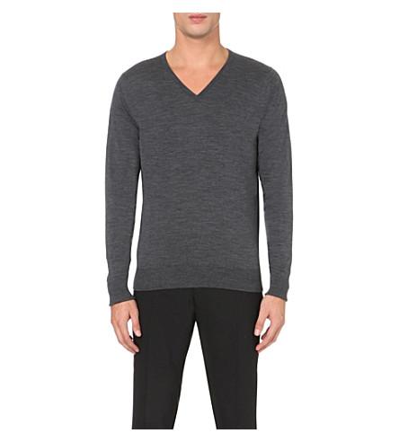 JOHN SMEDLEY Bobby merino wool jumper (Charcoal