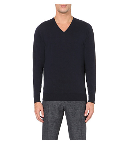 JOHN SMEDLEY Bobby merino wool sweater (Midnight