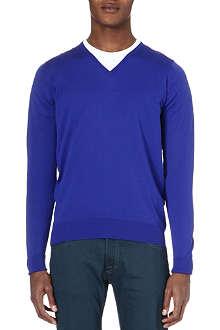 JOHN SMEDLEY V-neck merino wool jumper