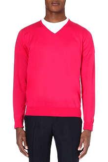 JOHN SMEDLEY V-neck knitted jumper
