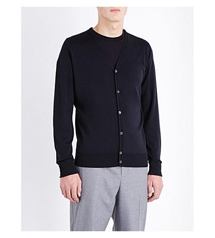 JOHN SMEDLEY Bryn merino wool cardigan (Black