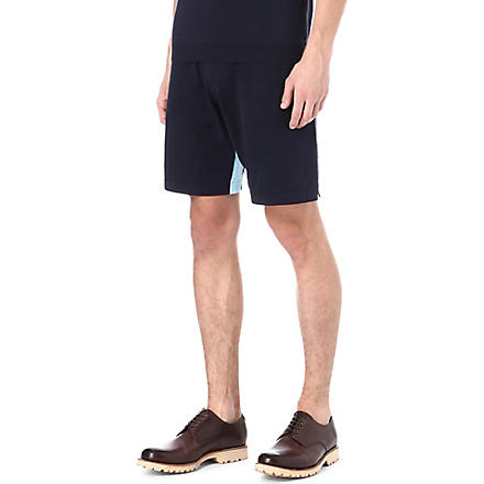JOHN SMEDLEY Calder cotton shorts (Blue/white