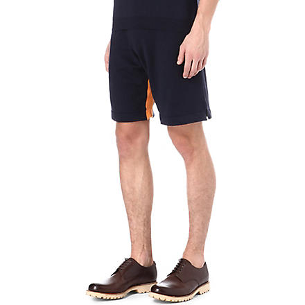 JOHN SMEDLEY Calder cotton shorts (Orange/navy