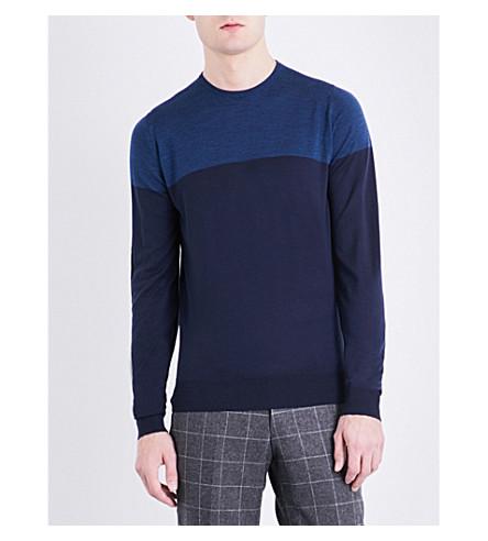 JOHN SMEDLEY Chaldon wool jumper (Midnight