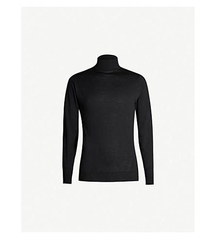 JOHN SMEDLEY Cherwell wool turtleneck jumper (Black