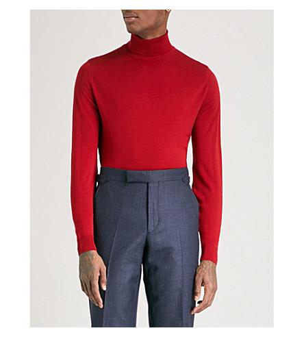 JOHN SMEDLEY Cherwell wool turtleneck jumper (Dandy+red