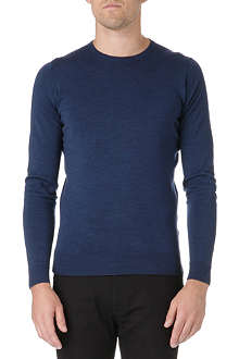 JOHN SMEDLEY Crew-neck slim-fit wool jumper