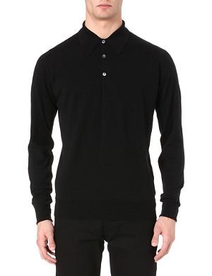 JOHN SMEDLEY Dorset long-sleeved polo shirt