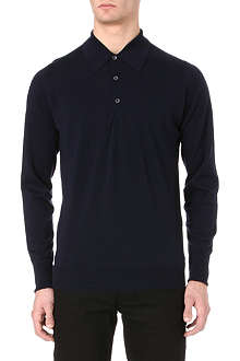 JOHN SMEDLEY Dorset long-sleeved polo shirt