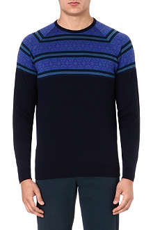 JOHN SMEDLEY Essery Fair Isle wool jumper