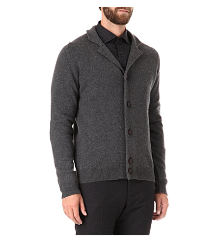 JOHN SMEDLEY Gowan cashmere-blend cardigan (Charcoal