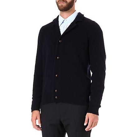 JOHN SMEDLEY Gowan cashmere-blend cardigan (Midnight