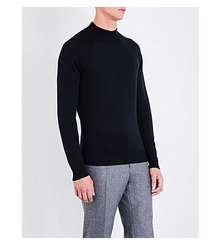 JOHN SMEDLEY Harcourt wool jumper (Black:7