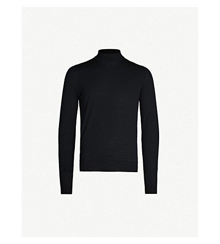 JOHN SMEDLEY Harcourt wool jumper (Black