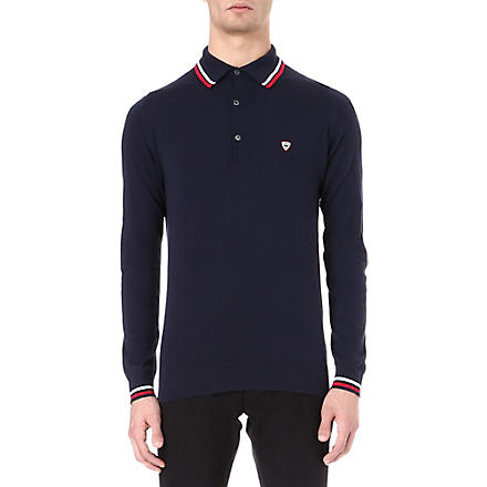 JOHN SMEDLEY Hendon Sea Island cotton polo shirt (Navy