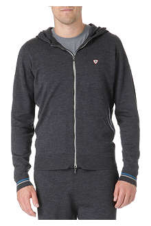 JOHN SMEDLEY Zip-up knitted wool hoody