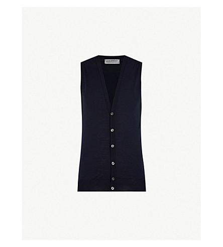 JOHN SMEDLEY Huntswood wool vest (Midnight