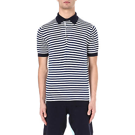 JOHN SMEDLEY Jaedon striped polo shirt (Navy/white