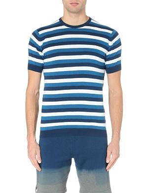 JOHN SMEDLEY Knitted crew neck t-shirt