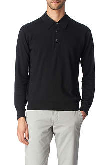 JOHN SMEDLEY Leander long–sleeved polo shirt