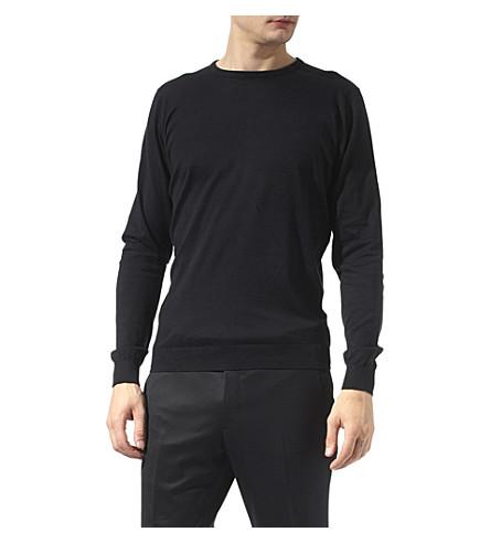 JOHN SMEDLEY Lineker jumper (Black