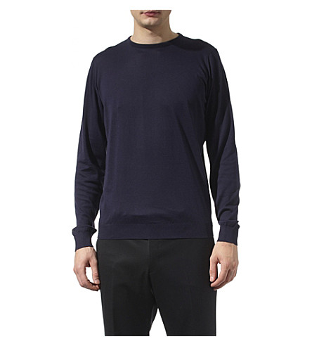 JOHN SMEDLEY Lineker jumper (Navy