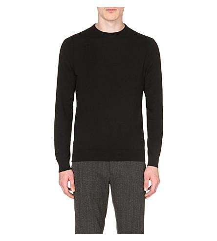 JOHN SMEDLEY Luke Sea Island cotton sweater (Black