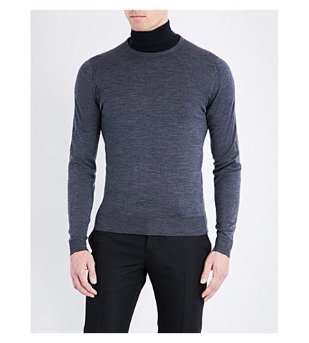 cuello redondo JOHN Gris lundy oscuro lana SMEDLEY de Jersey de xrpTYrXqw