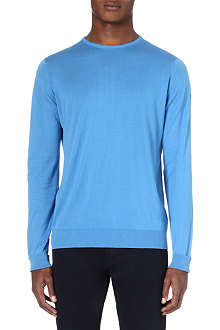 JOHN SMEDLEY Knitted crew-neck jumper