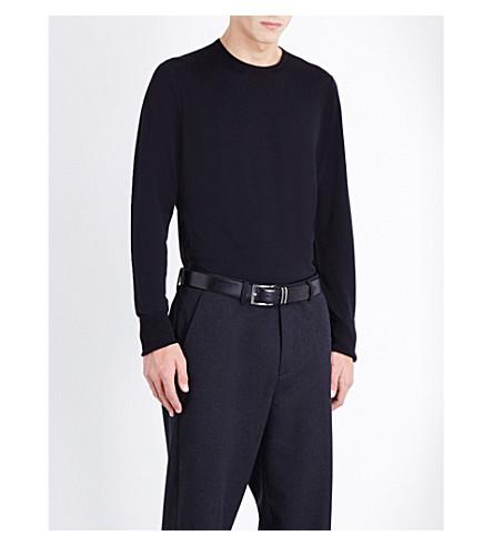 JOHN SMEDLEY Marcus wool jumper (Black