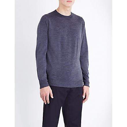 JOHN SMEDLEY Marcus wool jumper (Charcoal