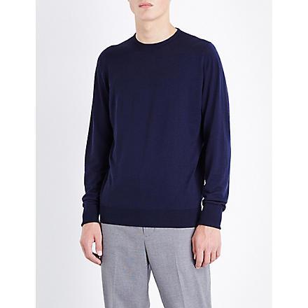 JOHN SMEDLEY Marcus wool jumper (Midnight