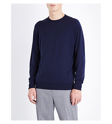 JOHN SMEDLEY Marcus wool sweater (Midnight
