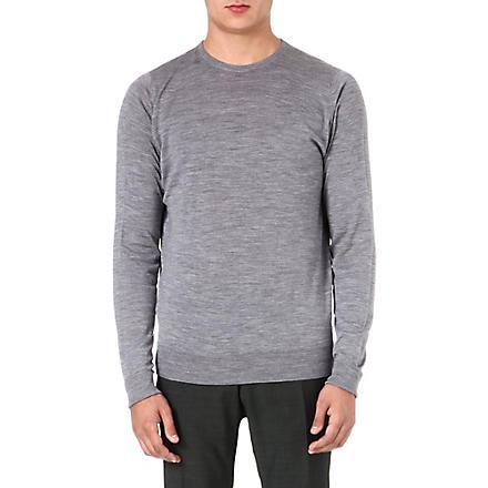 JOHN SMEDLEY Marcus wool jumper (Silver