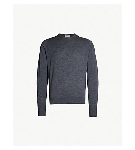 JOHN SMEDLEY Marcus merino wool jumper (Charcoal