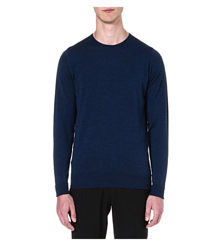 JOHN SMEDLEY Marcus wool jumper (Indigo