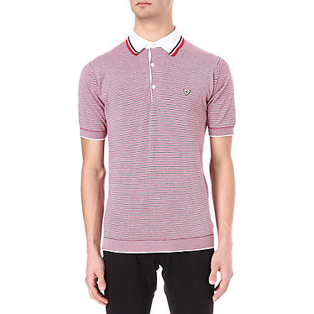 JOHN SMEDLEY Marius striped polo shirt (Red