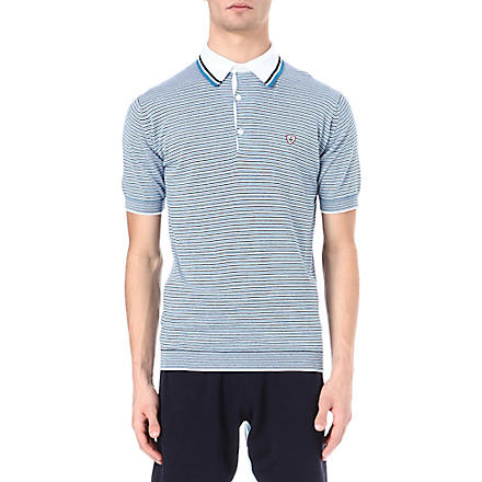 JOHN SMEDLEY Marius striped polo shirt (Blue
