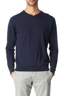 JOHN SMEDLEY Marshall v-neck jumper