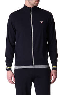 JOHN SMEDLEY Knitted zip-up sweatshirt