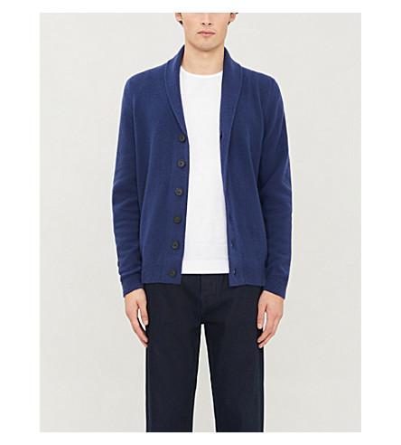 JOHN SMEDLEY Patterson cashmere and wool cardigan (Indigo