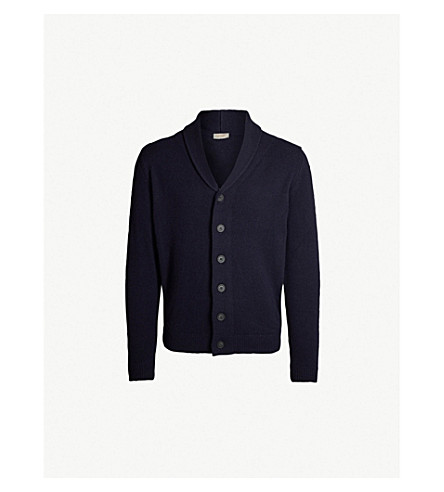 JOHN SMEDLEY Patterson cashmere and wool cardigan (Midnight