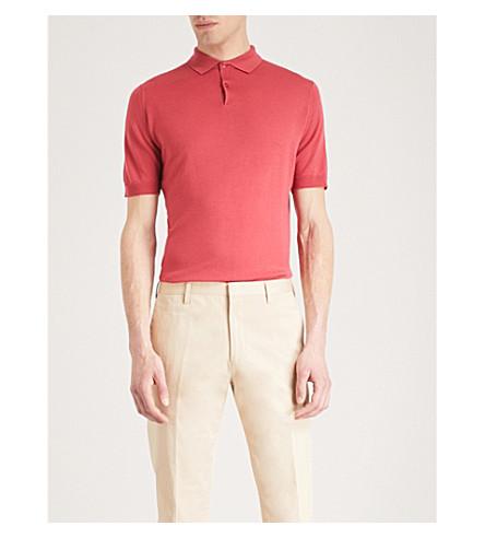 JOHN SMEDLEY Payton wool polo shirt (Atomic+cerise